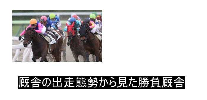 人気馬2頭 人気薄2頭の出走態勢で狙える厩舎と狙えない厩舎