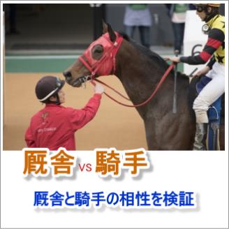 厩舎と騎手の相性を検証